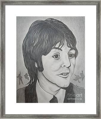 Paul Mccartney 2 By Richard Brooks. Framed Print