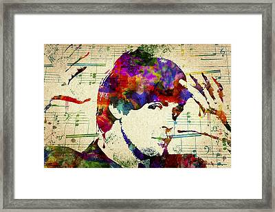 Paul Mccartney Framed Print by Aged Pixel