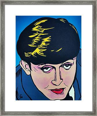 Paul Mccartney  Cartoon Framed Print
