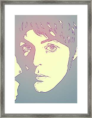 Paul Mccartney Framed Print by Giuseppe Cristiano