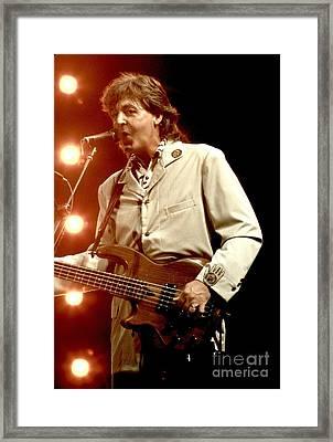 Paul Mccartney Framed Print by Concert Photos