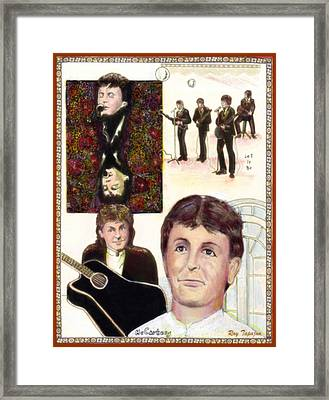 Framed Print featuring the mixed media Let It Be Paul Mccartney by Ray Tapajna