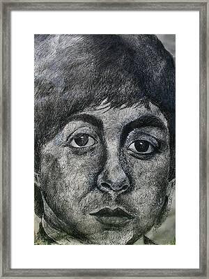 Framed Print featuring the painting Paul Mccartney by Melinda Saminski