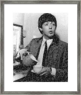 Paul Mccartney Mosaic Image 4 Framed Print by Steve Kearns