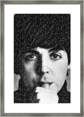 Paul Mccartney Mosaic Image 5 Framed Print by Steve Kearns