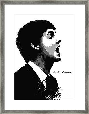 Paul Mccartney No.01 Framed Print