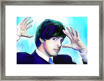 Paul Mccartney Of The Beatles Framed Print by GCannon