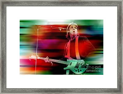 Paul Mccartney Then And Now Framed Print by Marvin Blaine