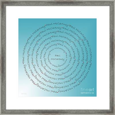 Paul Mccartney Typography Framed Print by Andee Design