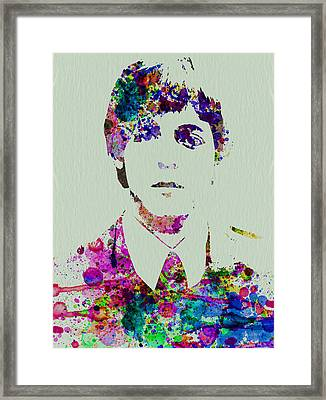 Paul Mccartney Watercolor Framed Print by Naxart Studio