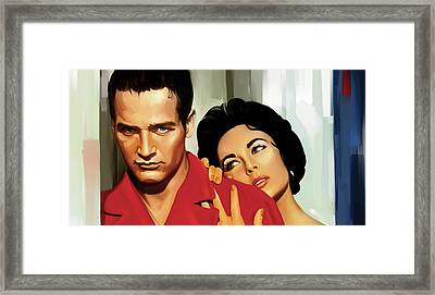 Paul Newman Artwork 3 Framed Print by Sheraz A