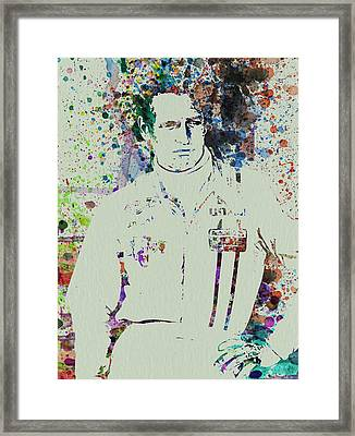 Paul Newman  Framed Print by Naxart Studio