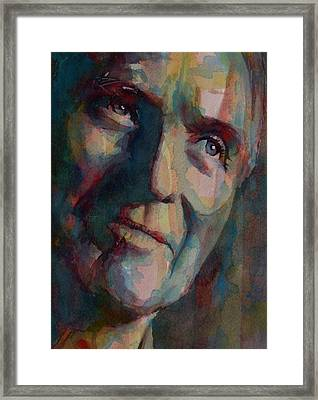 Paul Newman Framed Print by Paul Lovering