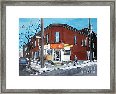 Paul Patate Pte St Charles Framed Print