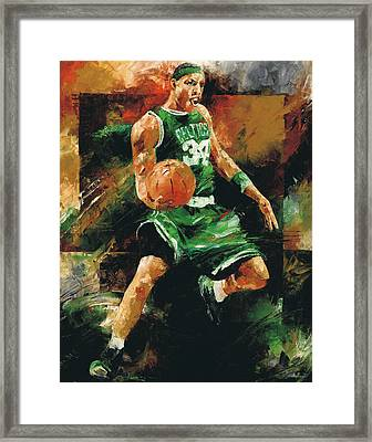 Paul Pierce Framed Print by Christiaan Bekker