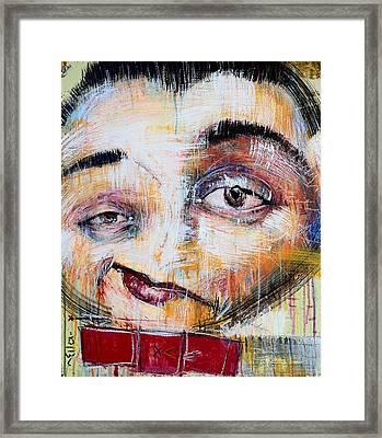Paul Reubans As Pee Wee Herman Framed Print by Mark M  Mellon