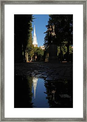 Paul Revere And The Old North Church Framed Print by Juergen Roth