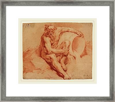 Paul Troger Austrian, 1698-1762, River God Framed Print by Litz Collection
