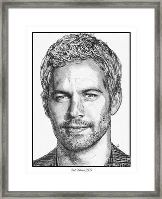 Paul Walker In 2009 Framed Print by J McCombie
