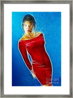 Paula Velvet Vison Fractal Framed Print by Gary Gingrich Galleries