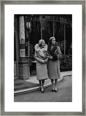 Paulette Amor De Ytrurbe And Sylvia De Rivas Framed Print