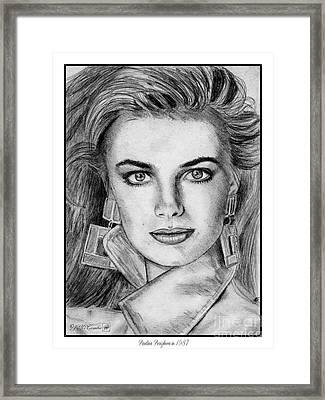 Paulina Porizkova In 1987 Framed Print