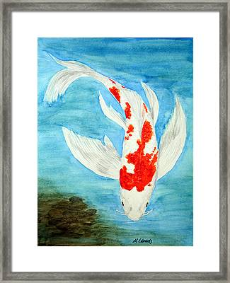 Paul's Koi Framed Print by Marna Edwards Flavell