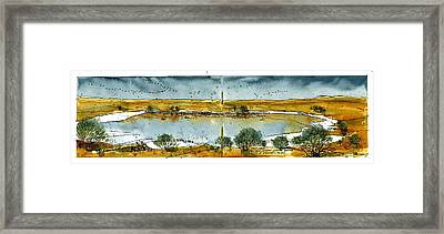 Framed Print featuring the mixed media Paul's Lake by Tim Oliver