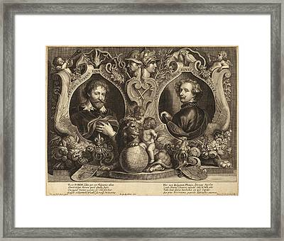 Paulus Pontius, After Sir Anthony Van Dyck And Erasmus Framed Print by Quint Lox