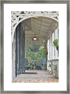 Pause For Reflection Framed Print by David Porteus