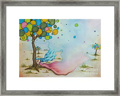 Pause Framed Print by Lucy Stephens