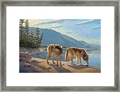Pause On The Way Framed Print by Paul Krapf