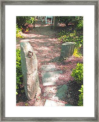 Paved Path Framed Print by Barbara McDevitt