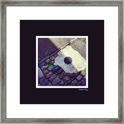 Pavement Art 3 Framed Print