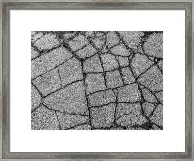 Pavement Cracks Framed Print by Craig Brown