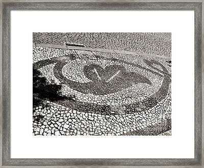 Framed Print featuring the photograph Pavement Detail Portugal by Menega Sabidussi
