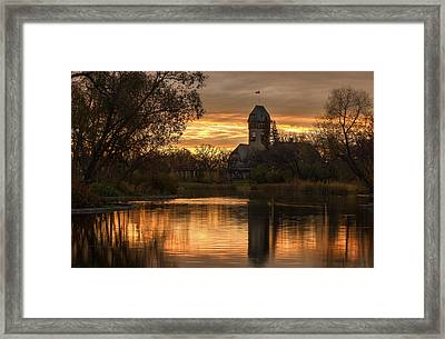 Pavilion Sunrise Framed Print by Stuart Deacon