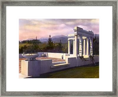 Pavilion Framed Print by Terry Reynoldson