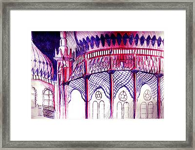 Pavillion At Night Framed Print