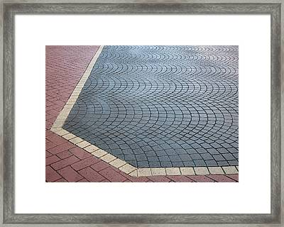 Framed Print featuring the photograph Paving Bricks by Pete Trenholm