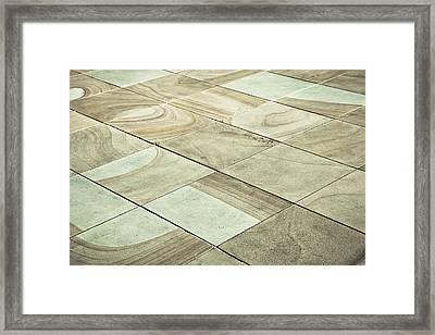 Paving Slabs Framed Print by Tom Gowanlock