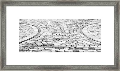 Paving Stones Framed Print by Tom Gowanlock