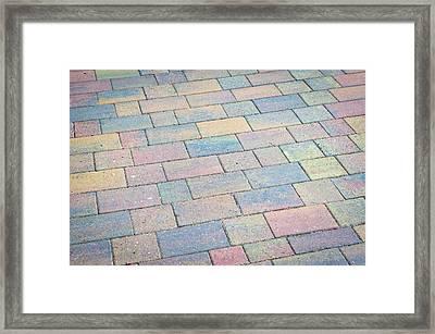 Paving Framed Print by Tom Gowanlock
