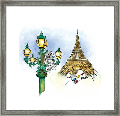 Paw Paw In France Framed Print by Leah Wiedemer