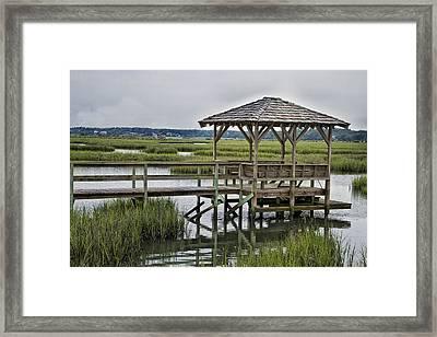 Pawleys Creek Dock Framed Print