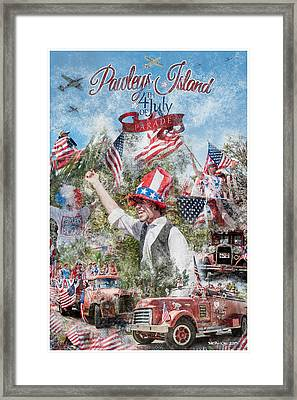Pawleys Island 4th Of July Parade Framed Print