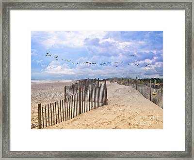 Pawleys Island Beach Scene Framed Print