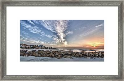 Pawleys Island Beach Sunrise Framed Print