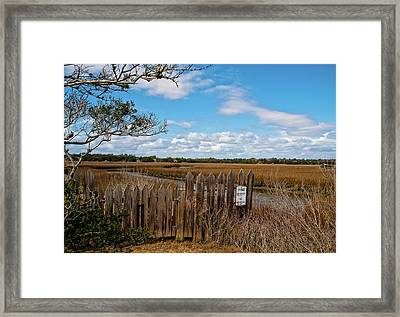 Pawley's Picket Fence Framed Print