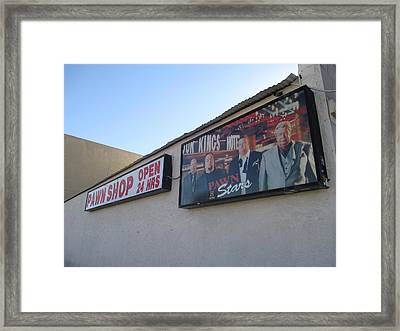 Pawn Stars Framed Print by Kay Novy